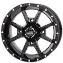 14x7 4/156 4+3 Frontline 556 Black Wheel