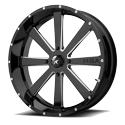 MSA M34 Flash 22x7 Gloss Black Milled